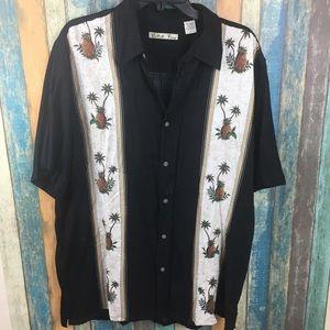 Men's Batik Bay Hawaiian Button Down Shirt